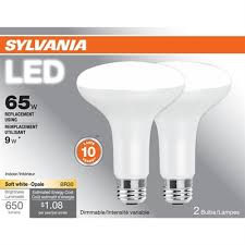 sylvania 2 pack 9 watt 65 w equivalent 2700 kelvins br30 medium