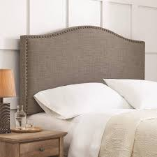 better homes and gardens grayson linen upholstered headboard with