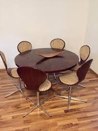 esstisch mit 6 stühlen 70er jahre kultzimmer