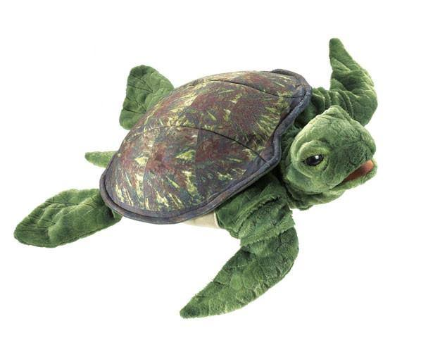 Folkmanis Sea Turtle Hand Puppet Toy