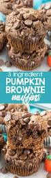 Cake Mix And Pumpkin Muffins by 3 Ingredient Pumpkin Brownie Muffins Crazy For Crust