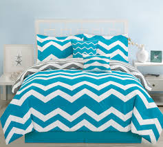 Queen Size Bed In A Bag Sets by 10 Piece Chevron Teal Bed In A Bag Set