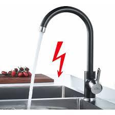 auralum küche wasserhahn niederdruck armatur einhebel schwarz spültischarmatur für kaltwasser und einen wasserboiler konzipiert