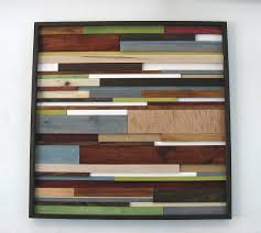 Reclaimed Wood Art Wall Rustic Home Decor Installation