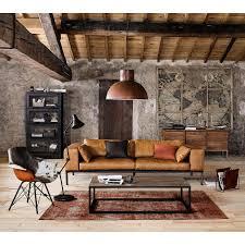 maison du monde canapes canapé 4 places en cuir camel salons interiors and living rooms