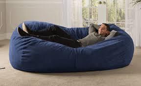 Sofa Saxx Giant Bean Bag Lounger Chenille Jaxx Bean Bags ...
