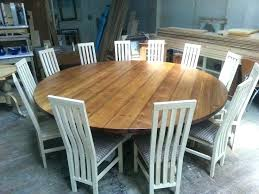 Exciting Large Dining Room Tables Extra Round Table