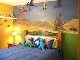 Dinosaur Toddler Room Ideas Kids In Dinosaurs Style Wall Paintings And Decor Styled