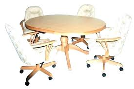 Dining Chairs On Casters Amazing Rolling Dining Room Chairs Dining
