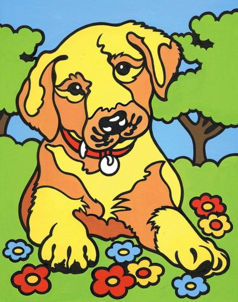 Reeves Painting by Numbers Mini Puppy