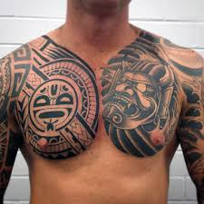 Lovely Tribal Tattoo Designs For Chest 79 On Floral With