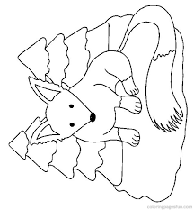 Free Fox Coloring Page Animals Pages 8 Printable