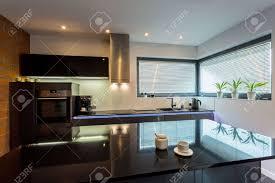 moderne luxus küche mit marmor insel