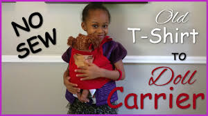 DIY Baby Alive Doll Carrier No Sew How To Blueprint DIY Kids