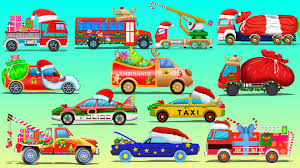 Magic Cars Pictures For Kids Street Vehicles And Trucks Christmas ...