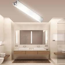 spiegel wand le chrom schaltbar decken leuchte glas bad strahler im set inkl led leuchtmittel
