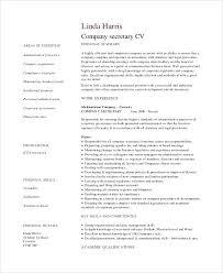 Sample Resume Secretary Of A Position