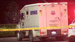 Armored Truck Driver Rams Suspects' Getaway Car After Robbery In ... Columbus Police Searching For Three Armed Suspects After Brinks Garda Armored Truck Insssrenterprisesco Car Guard Shot In Sacramento Credit Union Robbery Armored Robbed Outside Wells Fargo Inglewood Abc7com Cmpd Vesgating Of West Charlotte Smart Water Anti System Sign On The Back An Armoured Truck Driver Shoots Atmpted Robber In Little Village Worker Fatally Midcity Bank 1922 Us Mint Denver Suspect Dead Phoenix Youtube By Man And Woman East Side Wsyx