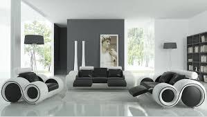 wohnzimmer sofa möbel mit liege moderne ledersofa schwarz weiß