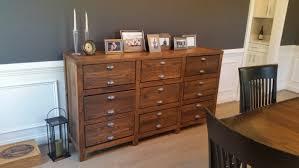 Furniture Rustic Buffet Table