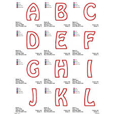 Letters A To Z Applique Birthday Monogram Fonts Alphabet Designs