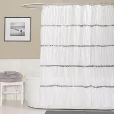 Small Bathroom Window Curtains Amazon by Amazon Com Lush Decor Twinkle Shower Curtain White Home U0026 Kitchen