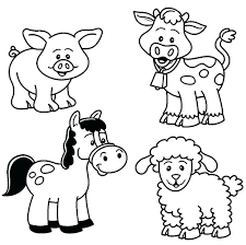Full Image For Farm Animals Colouring Pages Printable Baby Animal Coloring