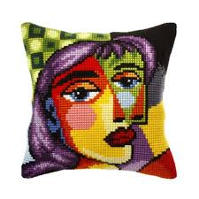 Orchidea Picasso Beauty Pillow Cover Needlepoint Kit