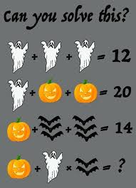 Scary Halloween Riddles And Answers by Mathway Halloween Math Puzzle Simplemost
