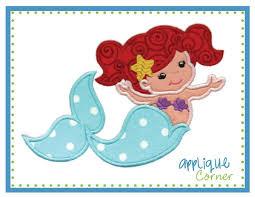 Applique Corner Mermaid regular Applique Design