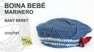 Tutorial Boina Bebé Marinero Crochet o Ganchillo
