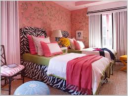 Simple Creative Painting Ideas For Bedrooms With Black Color Small Excellent Bedroom Interior Zebra Print Bed