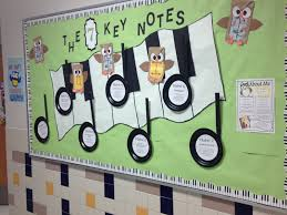 7 Habits Themed Bulletin Board Each Quarter Note Has A Habit With Language About How It Looks In The Music Room