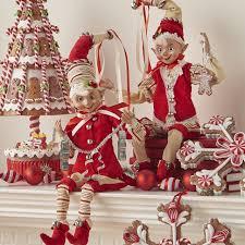 Raz Christmas Trees by Raz Peppermint Kitchen Gingerbread Elf Set Of 2 Shelley B Home