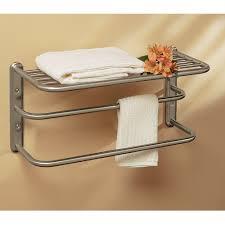 Bath Shelves With Towel Bar by Bathroom Shelves