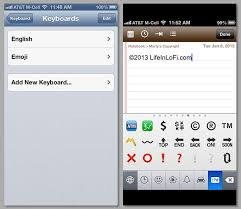 How To Make a Real c Copyright Symbol on Your iPhone and iPad