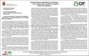 Aclaración Del DIF Chiapas A Calumnias De Un Portal Electrónico