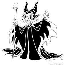 Daisy Duck As Maleficent Disney Halloween Coloring Pages
