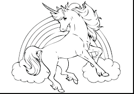 Cute Unicorn Coloring Pages Printable Baby Unicorns Colouring P