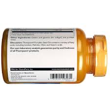 Buy Pumpkin Seed Oil For Hair Loss by Thompson Pumpkin Seed Oil 1 000 Mg 60 Softgels Evitamins India
