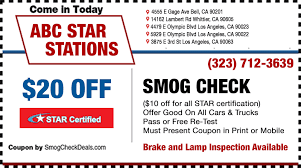 Brake And Lamp Inspection Sacramento by Smog Check Five Star Certified Locations 323 712 3639
