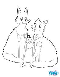 Dibujos Para Colorear Familia De Zorros Eshellokidscom