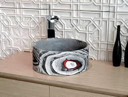 oi graffiti runde beton gefäß spüle badezimmer waschbecken badezimmer gefäß farbige waschbecken bunte gefäß