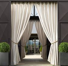sunbrella drapery outdoor patio area on each side of porch or