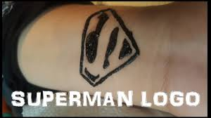 Temp Tattoo Superman Logo