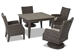 Cascade 5-Piece Outdoor Dining Set With Swivel Chairs And Drainable ... Hanover Traditions 5piece Alinum Outdoor Ding Set With Swivel Chairs With Casters A R T Valencia Castered Chair In Indoor Chromcraft Kitchen Revington Table Amazoncom Morocco Square And Four On Wheels Tvdesignorg Astounding Value City Fniture Room Cool Haddie 8 Cancupinfo Mesmerizing Cheap Dinette Sets Immaculate Lowes Sling Covers Six Patio Cushion Tilt Coaster Mitchelloak 5 Piece 3in1 Game Alkar Billiards