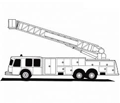Fire Truck Coloring Pages Images