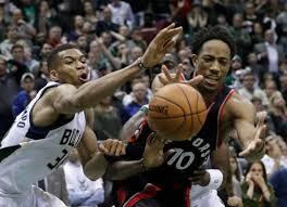 Whew Raptors blow 25 point lead but beat Bucks 92 89