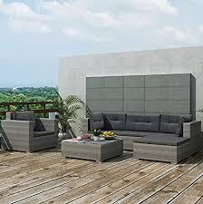 de grau rattan garten möbel terrasse ecke sofa