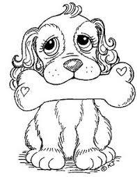 Puppy With Big Bone And Dog Eyes
